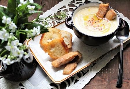 Суп-пюре из цветной капусты с рыбой